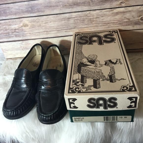 SAS Shoes | Sas Black Leather Loafers